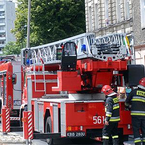 Pożar w szkole przy Morcinka