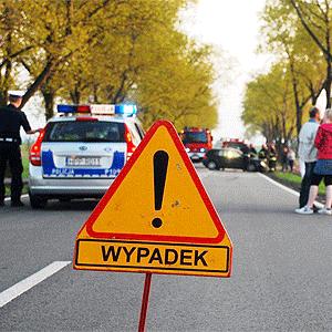 Wypadek w Skrzyszowie