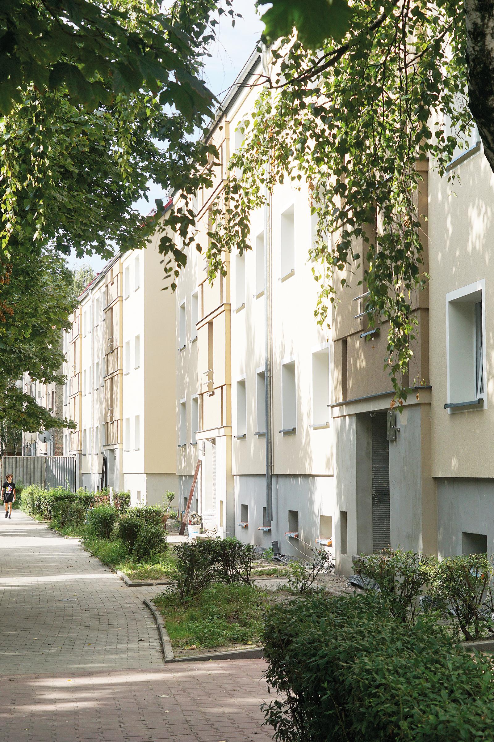 Zmodernizowane budynki przy ul. Skłodowskiej