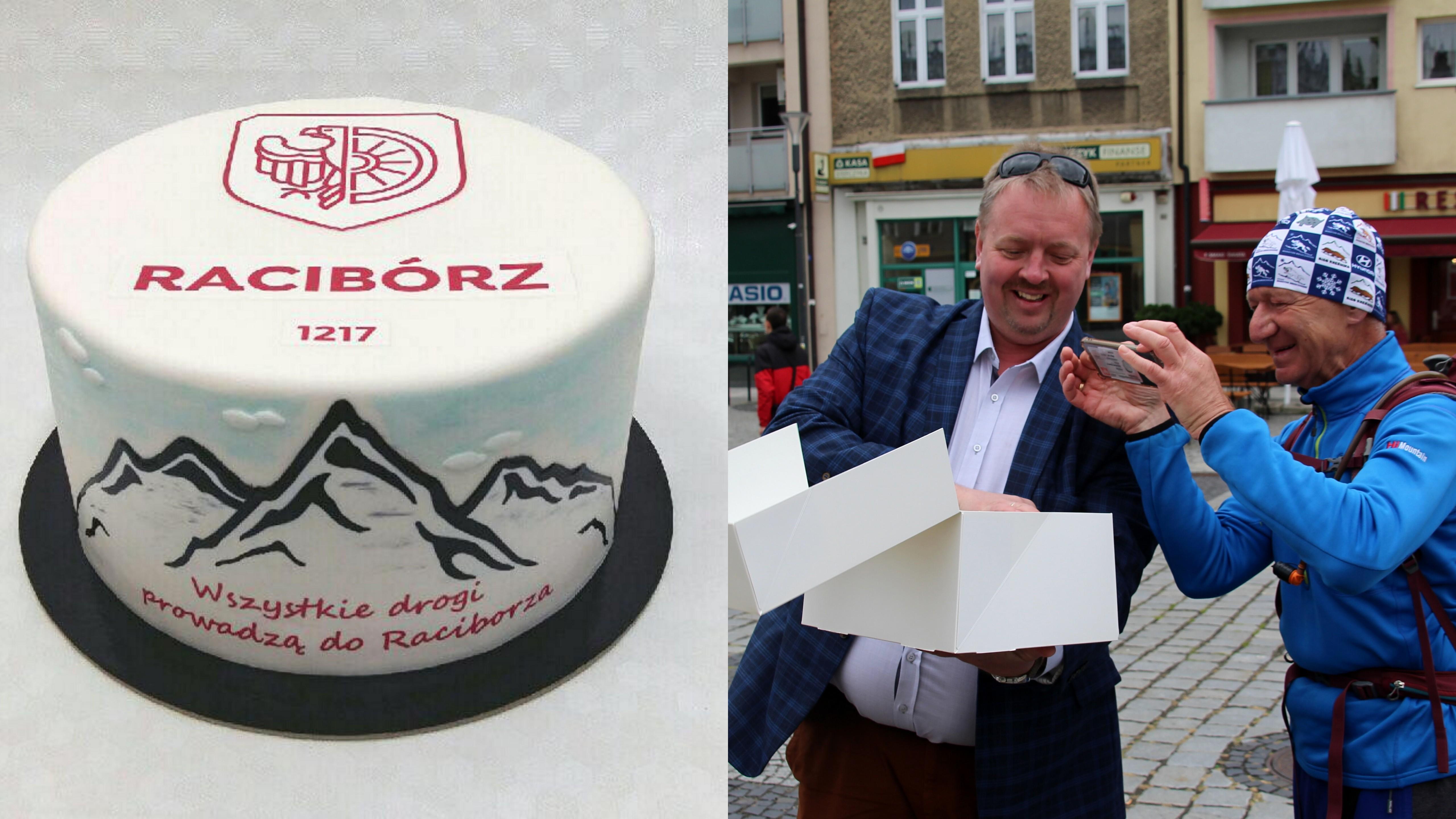 Na pana Zbigniewa w niedzielne popołudnie na raciborskim rynku czekał Dawid Wacławczyk. Wiceprezydent pogratulował mu najnowszego osiągnięcia i w dowód uznania wręczył przygotowany specjalnie na tę okazję tort. Jak wiemy z relacji pana Zbyszka, tort wyglądał wspaniale, a smakował jeszcze lepiej.Tort został przygotowany przez raciborskich cukierników z firmy I Torty.