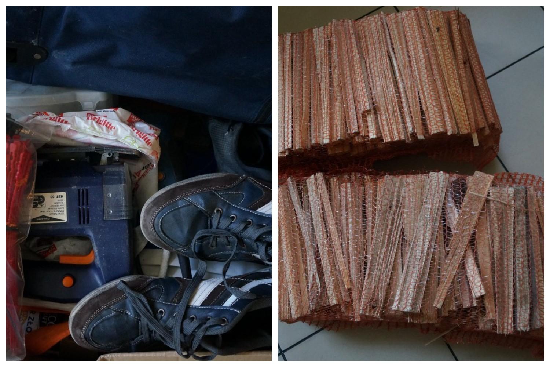 Łupem złodzieja padły rowery, narzędzia i elektronarzędzia, a nawet... worki z drewnem na opał. Policja informuje, że łączna wartość skradzionego mienia to kilka tysięcy złotych. Część skradzionych przedmiotów udało się odzyskać.